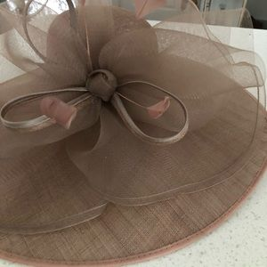 Accessories - Special Occasion Taupe Wide Brim Hat. New with Tag
